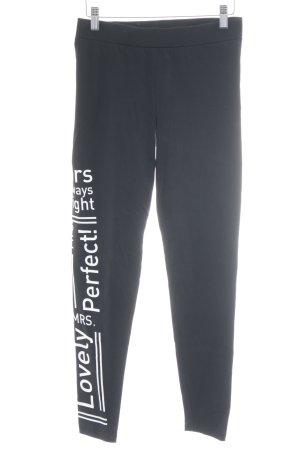 Buffalo Leggings negro-blanco letras impresas estilo deportivo