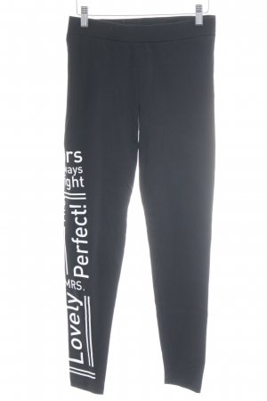 Buffalo Legging zwart-wit gedrukte letters atletische stijl