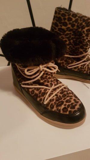 Buffalo Botas de nieve negro-marrón arena