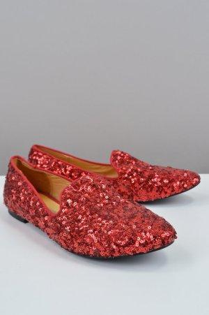 Buffalo Loafers mit Pailletten rot Größe 37