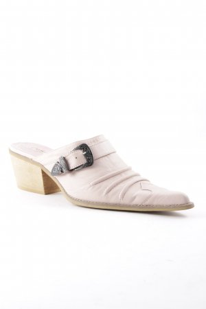 Buffalo London Heel Pantolettes light pink-sand brown casual look