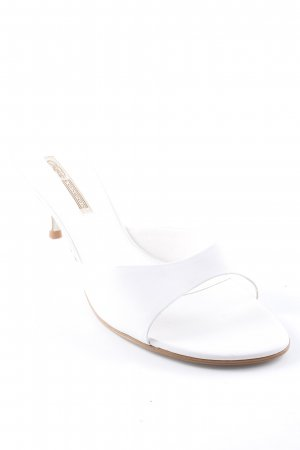Buffalo London Sandalo con tacco bianco stile classico