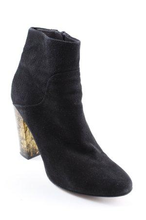 Buffalo London Absatz Stiefel schwarz-dunkelgelb extravaganter Stil