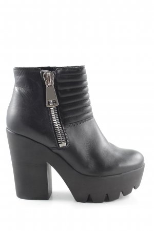 Buffalo London Ankle Boots schwarz Steppmuster Casual-Look