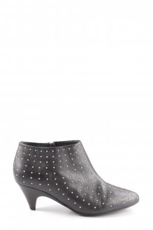 Buffalo London Ankle Boots schwarz-goldfarben Party-Look