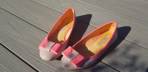 Buffalo London Patent Leather Ballerinas pink-neon pink
