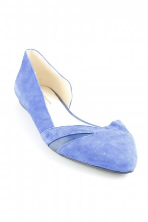 Buffalo London Ballerinas mit Spitze blau Casual-Look