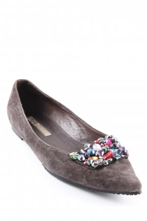 Buffalo London Ballerinas mit Spitze dunkelbraun Casual-Look