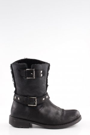 Buffalo London Booties schwarz-silberfarben Casual-Look