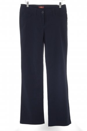 Buffalo London Bundfaltenhose dunkelblau Business-Look