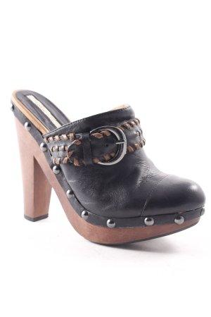 Buffalo London Clog Sandalen schwarz-braun 90ies-Stil