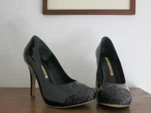 BUFFALO LONDON edle High Heels Lackleder schwarz Gr. 37