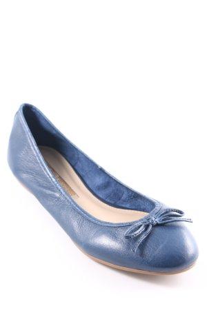 Buffalo London faltbare Ballerinas dunkelblau Casual-Look