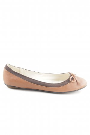 Buffalo London Foldable Ballet Flats nude-bronze-colored business style