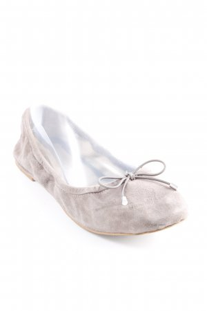 Buffalo London Foldable Ballet Flats grey brown casual look