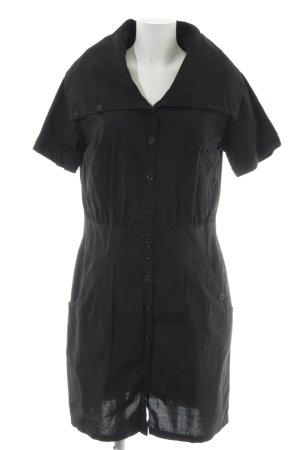 Buffalo London Abito blusa camicia nero stile semplice