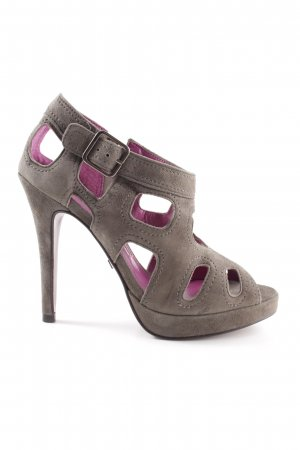 Buffalo London High Heel Sandaletten hellgrau-pink Elegant