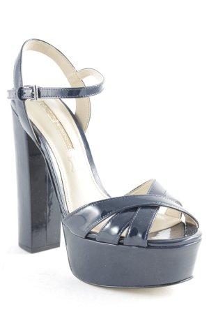 Buffalo London High Heel Sandaletten dunkelblau Lack-Optik