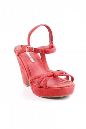 Buffalo London High Heel Sandaletten rot Party-Look