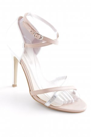 Buffalo London High Heel Sandaletten silberfarben-beige Elegant