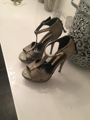Buffalo London High heels Gold Glitzer