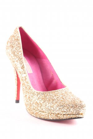 Buffalo London High Heels goldfarben Party-Look