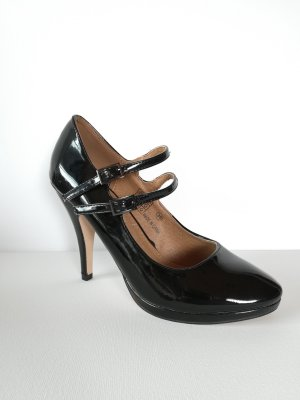 Buffalo London High Heels Lack schwarz