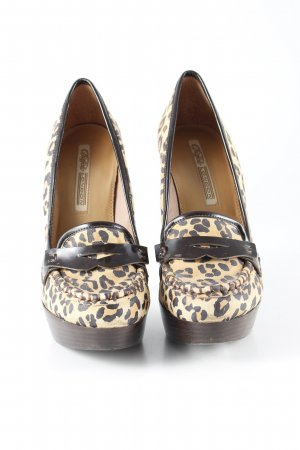 Buffalo London High Heels sandbraun-schwarzbraun Leomuster Animal-Look