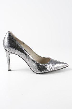 Buffalo London Hoge hakken zilver-zwart extravagante stijl