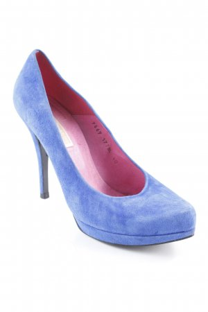 Buffalo London High Heels stahlblau Casual-Look