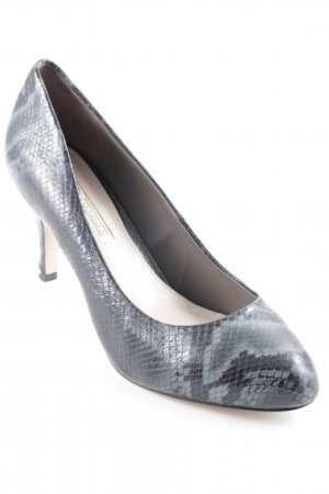 Buffalo London Hochfront-Pumps anthrazit-schwarz Business-Look