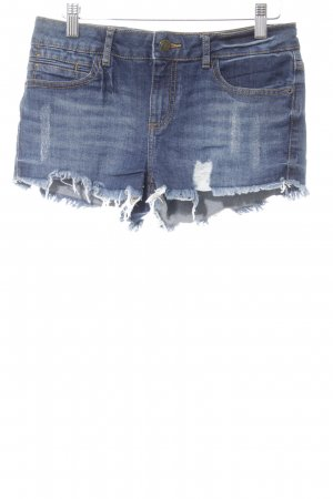 Buffalo London Hot Pants blau Used-Optik