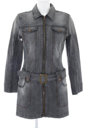 Buffalo London Denim Jacket light grey flecked casual look