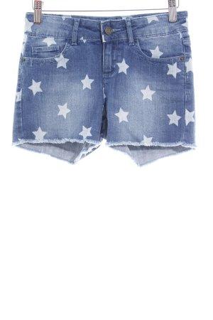 Buffalo London Jeansshorts Sternenmuster extravaganter Stil