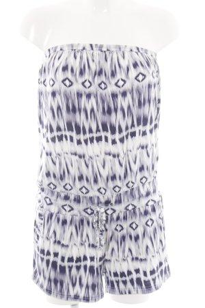Buffalo London Jumpsuit lila abstraktes Muster Casual-Look