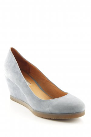 Buffalo London Keil-Pumps himmelblau Elegant