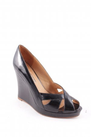 Buffalo London Wedge Pumps black-brown leather-look