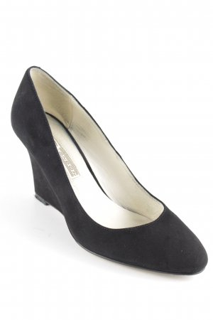 Buffalo London Keil-Pumps schwarz Casual-Look