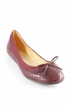 Buffalo London Patent Leather Ballerinas brown red-bordeaux abstract pattern