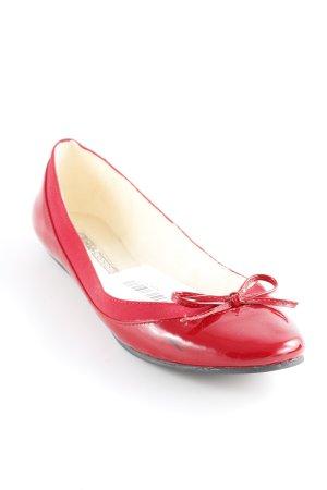 Buffalo London Patent Leather Ballerinas dark red casual look