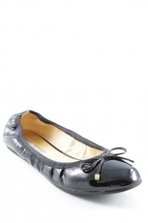 Buffalo London Lackballerinas schwarz Glanz-Optik