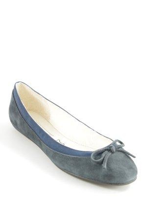 Buffalo London Mary Jane Ballerinas dark blue-cream casual look