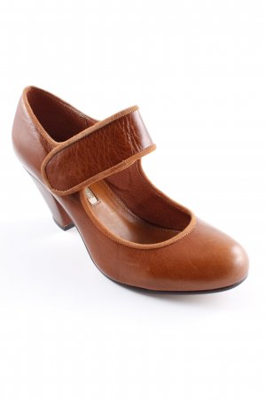 Buffalo London Mary Jane Pumps cognac schlichter Stil