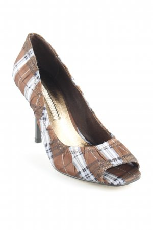 Buffalo London Peeptoe Pumps Kunstmuster extravaganter Stil