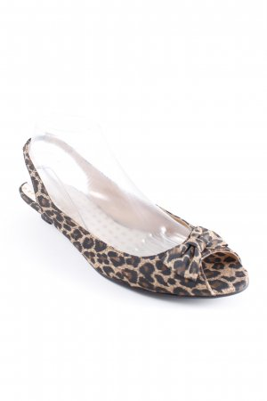 Buffalo London Peeptoe Pumps Leomuster Animal-Look