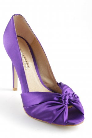 Buffalo London Peeptoe Pumps lila Elegant