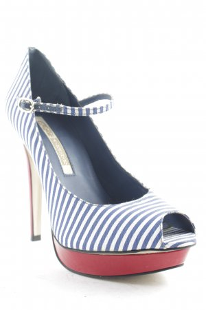 Buffalo London Peeptoe Pumps mehrfarbig Marine-Look