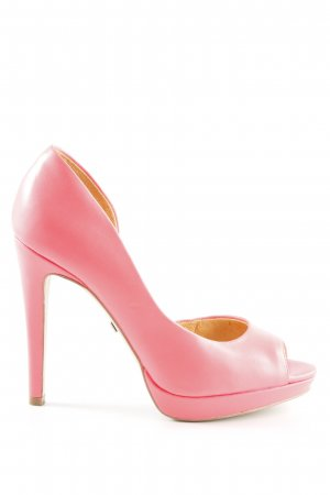 Buffalo London Peeptoe Pumps neonpink Party-Look