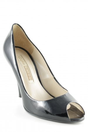 Buffalo London Peeptoe Pumps schwarz Business-Look