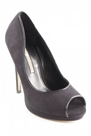 Buffalo London Peeptoe Pumps schwarz Party-Look